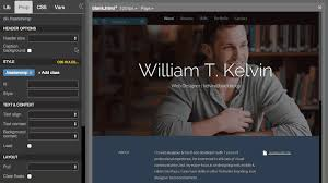 Kelvin Pine Free Personal Resume Bootstrap Theme Pinegrow Web Editor