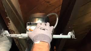 image of recessed lighting installation construction