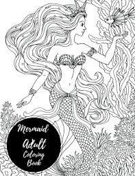 mermaids coloring book large stress relieving relaxing coloring book for grownups men