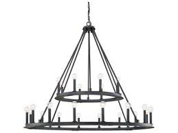 capital lighting pearson black iron 24 light 48 wide chandelier