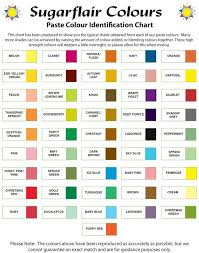 Baby Food Color Chart Sugarflair Colour Chart Icing Color Chart Icing Colors
