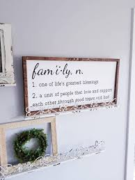 Wood Wall Art Quotes Fascinating Family Sign Family Quote Sign Framed Sign Wood Wall Art Quote
