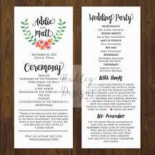Wedding Ceremony Brochure Wedding Programs Wedding Ceremony Programs Wedding Program