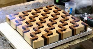 diy 3d end grain wood kitchen cutting board woodworking