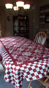21 best Quilted tablecloths images on Pinterest | Tablecloths ... & red and white quilted tablecloth Adamdwight.com