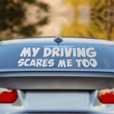 beler My Driving Scares Me Too Car Window Van JDM Custom Funny ...