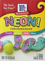 Mccormick Egg Dye Color Chart Buy Neon Purple Green Pink Blue 4 Pack Food Color By