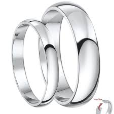 matching silver wedding bands. his \u0026 hers silver super heavy weight court wedding bands 3\u00265mm matching