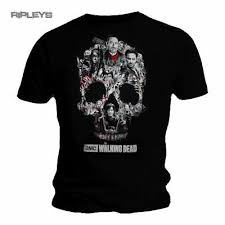 Montage Size Chart New Official T Shirt Zombies The Walking Dead Negan Montage Size S 5xl Ebay