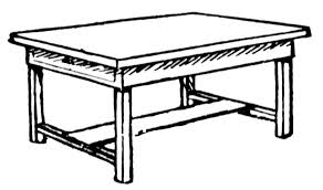 desk clipart black and white. Table Clipart Black And White Desk