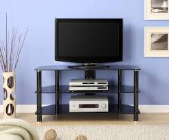 Tv Stand Black Innovex 42 In Black Glass Tv Stand Tc280g29