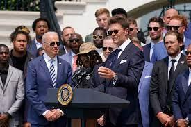 Tom Brady cracks jokes with Joe Biden ...