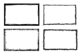 4 rectangle scribble frame png transpa