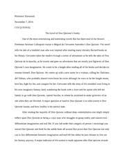 persuasiveessay on don quixote persuasive essay significance and 6 pages don quixote essay