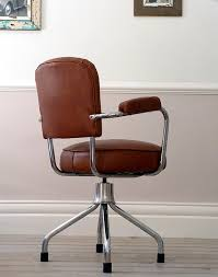 vintage leather office chair. Delighful Leather 1960s French Vintage Leather Office Chair And A