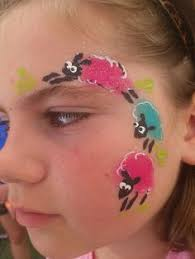 Small Picture Quick one stroke bunny Easter face paint idea Face Painting