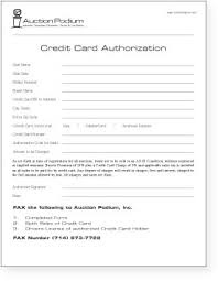Credit Card On File Authorization Form Template - Fast.lunchrock.co