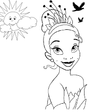 Princess Tiana Coloring Pages - Coloring Pages Online