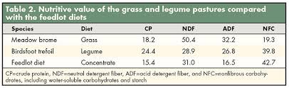 Steer Feeding Chart Legume Finished Beef Hay And Forage Magazine