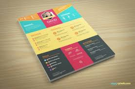colorful creative resume template version 2 colorful resume template free download