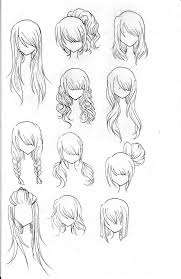 anime chibi drawing hair. Plain Anime Draw Realistic Hair Anime Drawing Guide Intended Chibi D