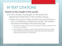 Mla Citation Formatting Ppt Download