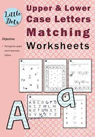 Matching Uppercase and Lowercase Letters Worksheets | Little Dots ...
