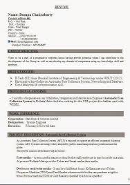 Cv Pattern Cv Pattern Sample Template Ofbeautiful Curriculum Vitae
