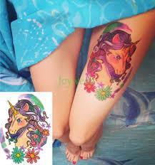 8991 руб водостойкая временная татуировка стикер единорог русалка сова ласточки