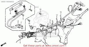 honda cm200t twinstar 1980 a usa wire harness schematic partsfiche wire harness schematic