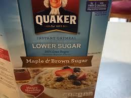 maple brown sugar lower sugar instant oatmeal