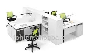 white modern office desk. White Modern Office Desk Group 4 Seats Groups Workstation Design  (FOH-FC14- White Modern Office Desk