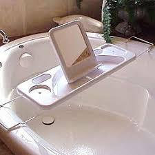 Bathtub Caddy Mirror Book Holder
