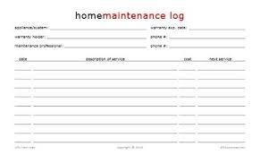 Home Maintenance Log Book Rome Fontanacountryinn Com