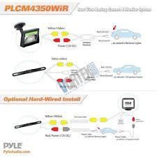 pyle plcm4350wir 4 3 monitor wireless rearview license plate pyle wireless transmission back up rearview parking assist system kit license plate camera