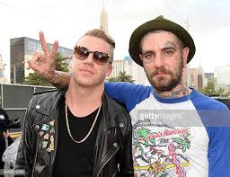 christopher mansfield macklemore. Delighful Macklemore Rapper Macklemore With Musician Christopher Mansfield Of Fences Attend The  2014 IHeartRadio Music Festival Village On And O
