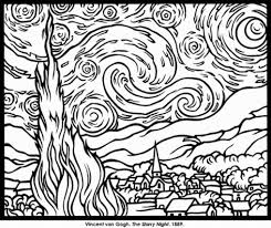 Small Picture Coloring Pages Famous Paintings Coloring Pages Please Make Sure