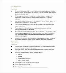 C Section Birth Plan C Section Birth Plan Template Unique C Section Birth Plan