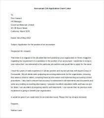 Free Cover Letter Format Accountant Job Application Cover Letter
