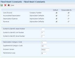 Setting Up The Fixed Assets System