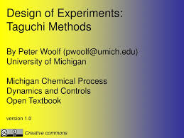 Taguchi Methods Design Of Experiments Examples Ppt Design Of Experiments Taguchi Methods By Peter Woolf
