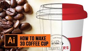 How To Make A Design On Coffee How To Make A 3d Coffee Cup In Adobe Illustrator Using
