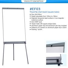 Office School Supplies Mobile Collapsible Magnetic Surface Painting Writing Display Frame White Stand Tripod Flip Chart Easel Buy White Board