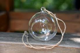 Hanging Glass Tea Light Spheres Buy 4 X Hanging Clear Glass Bauble Sphere Ball Candle Tea