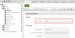Product And Price Customizing Product Prices Kentico 11 Documentation
