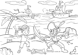 Kleurplaten Piraten