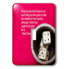 3drose Alexis Design Quotes Mark Twain Wooden Dices Red
