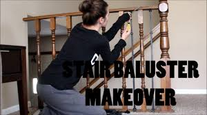Build Newel Post Diy Stair Railing Makeover Baluster And Newel Post Revamp Youtube
