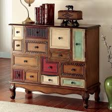vintage style furniture. Furniture Of America Cirque Vintage Style Multicolored Chest Antique Walnut Beige Throughout