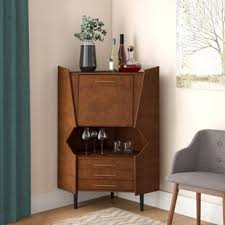 Image Wine Rack Hester Corner Bar Cabinet Wayfair Bars Bar Sets Youll Love Wayfair